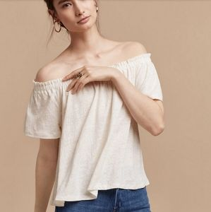 Aritzia Wilfred Sartre Off The Shoulder Blouse